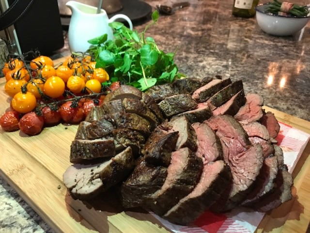 Beef fillet with Stuart Brown and La Belle Assiette