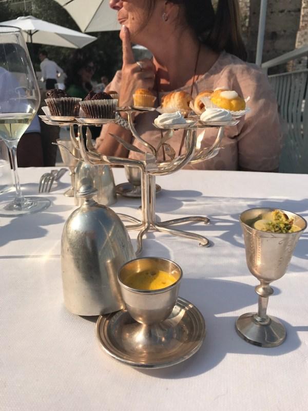 Pre-dessert at La Speranzina, Sirmione, Lake Garda