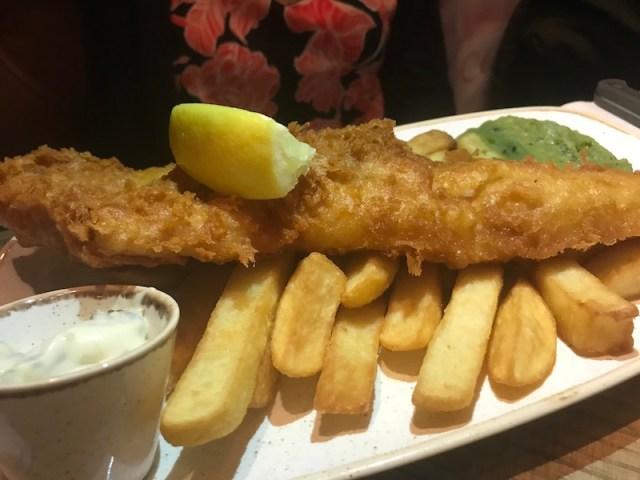 Fish and chips at Bar and Block, Birmingham