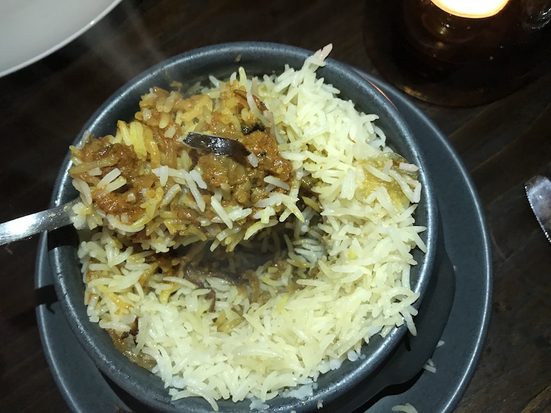 Hyderabadi Biryani at Lasan, Birmingham