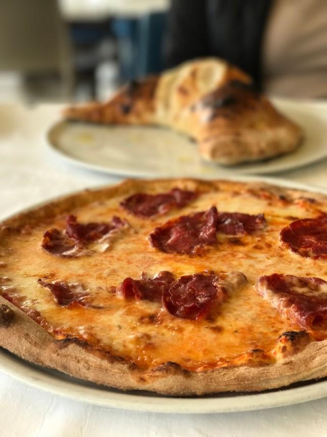 Pizza at Lake Como