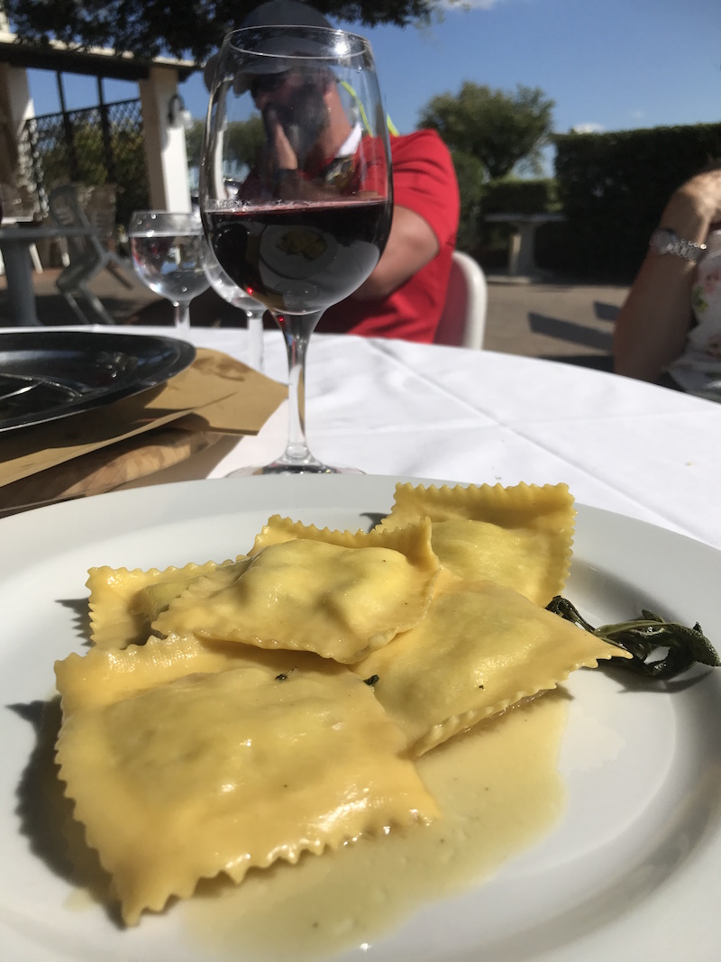 Lunching in Tuscany
