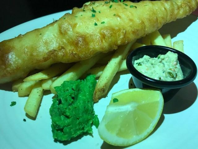 Fish and chips at Mhor 84