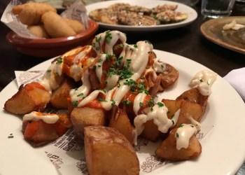 Patatas bravas at El Borracho de Oro, Birmingham
