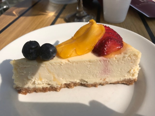 Cheesecake at Langland's Brasserie
