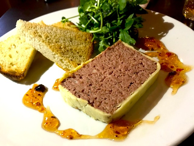 Chicken liver parfait at Queen's Road, Coventry
