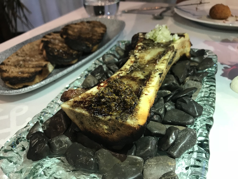 Bone marrow starter at Kokosnot, Andorra