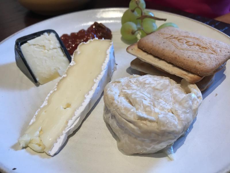 Cheese board at Three Church Road, Edgbaston
