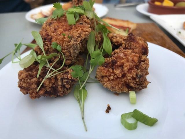 Fried chicken at Gambas, Bristol