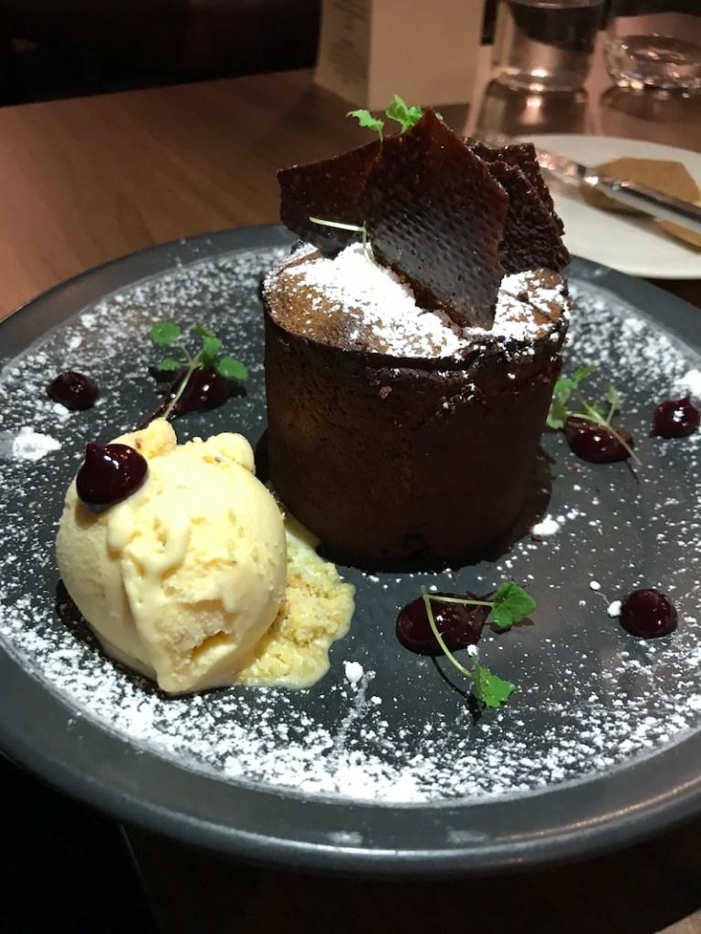 Chocolate fondant at Loxleys