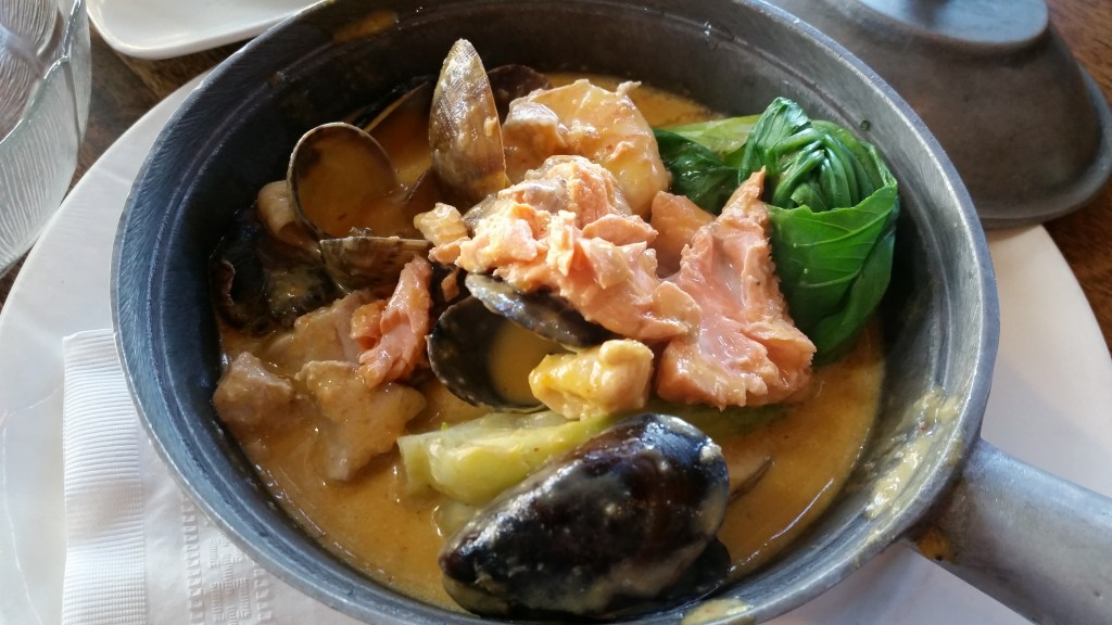 Seafood Hotpot at The Sandbar Seafood Restaurant