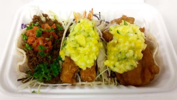 The Happy Fish - 3 Taco Platter Special $11