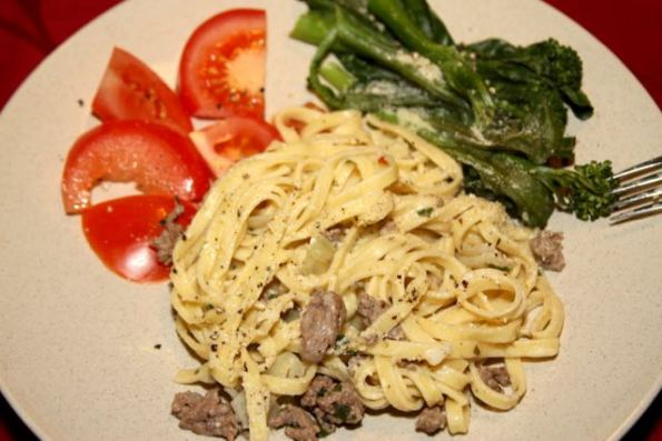 Creamy Bolognese and Linguine