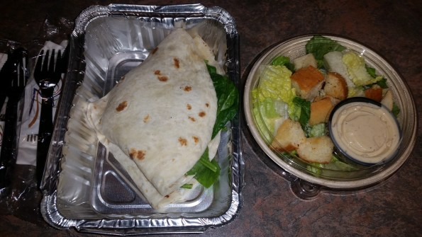 Pollo Balsamico Piadina & Side Caesar Salad to go
