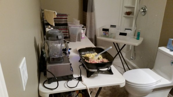 The other half of my temporary kitchen