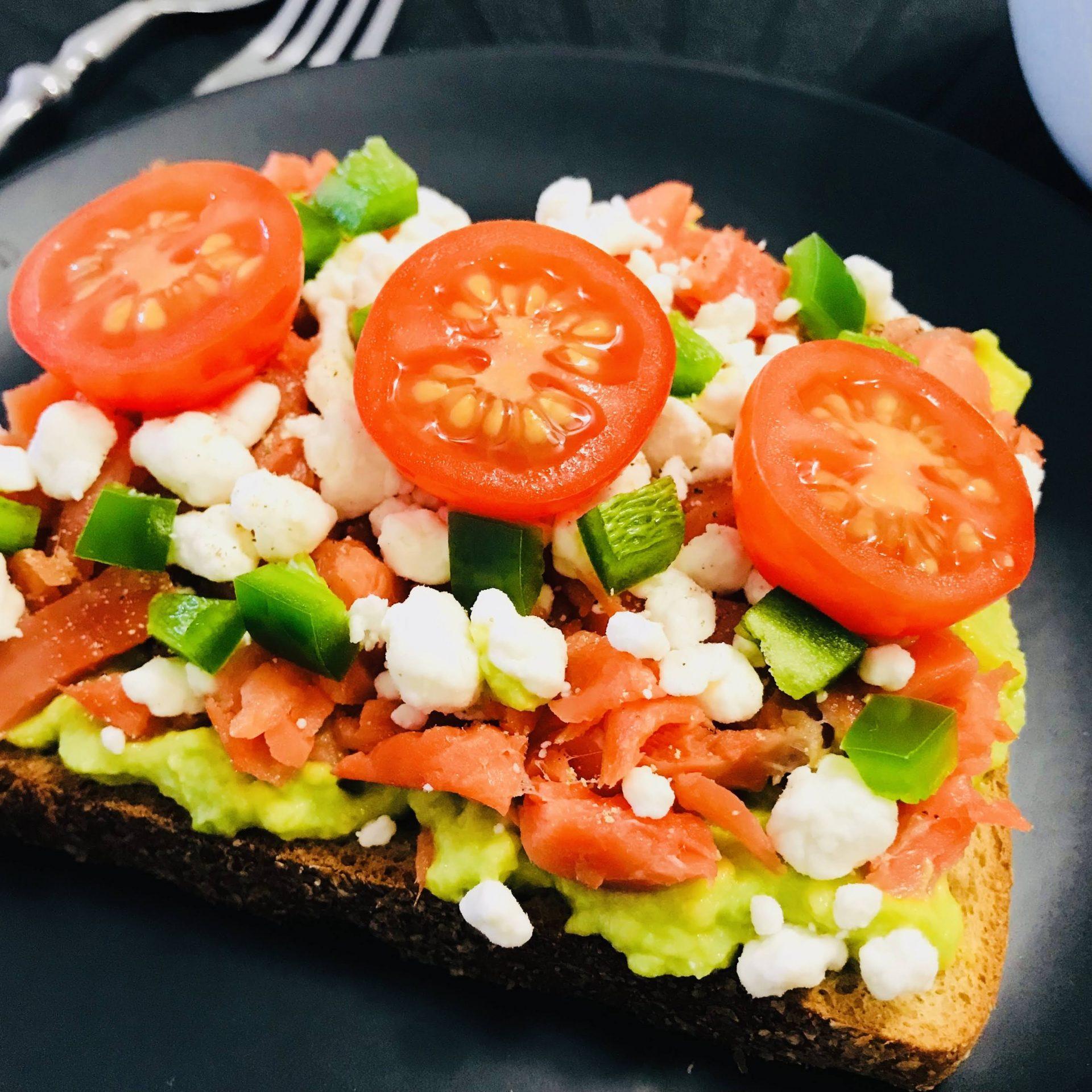 Avocado and Salmon Toast