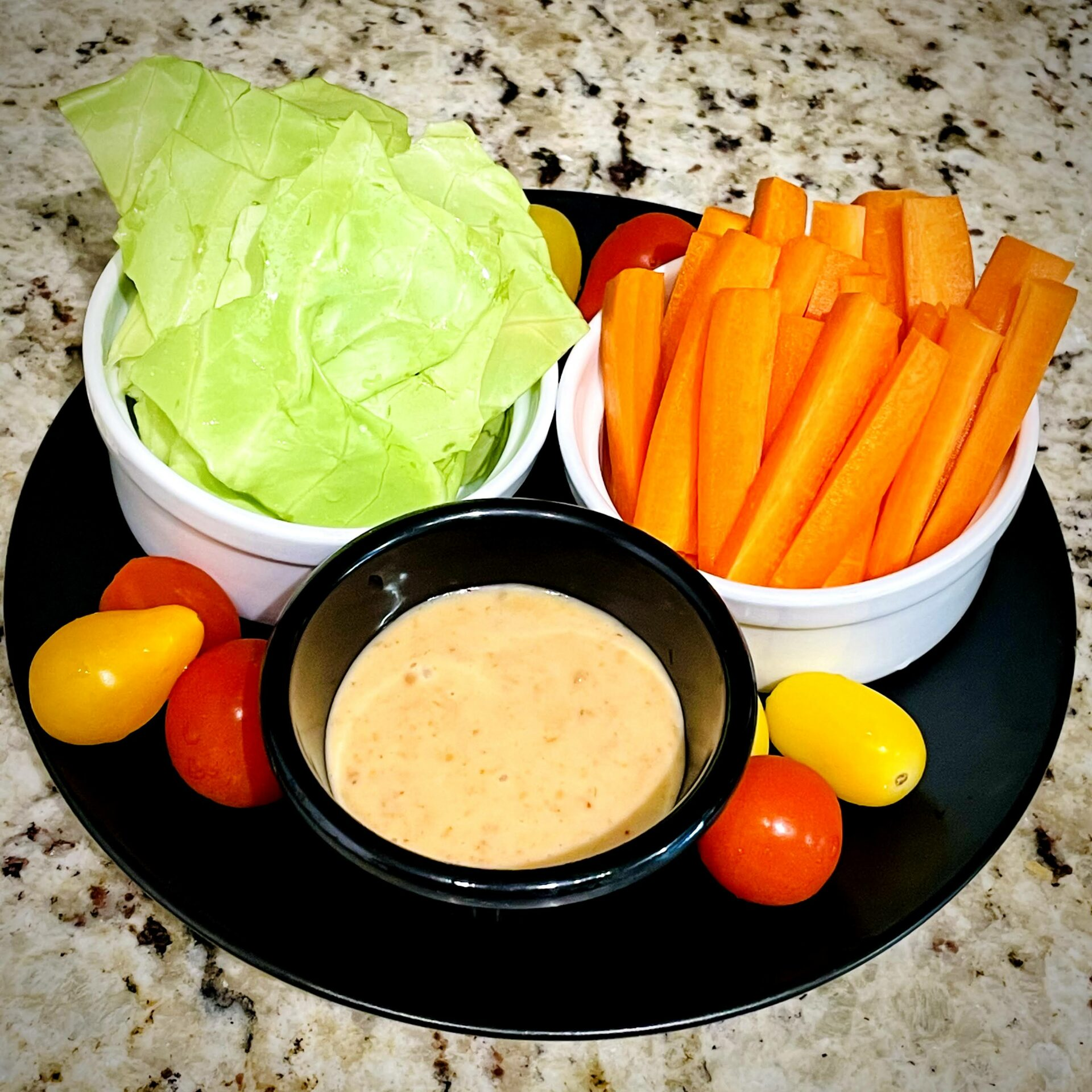 Vegetables and Spicy Miso Mayonnaise Dipping Sauce