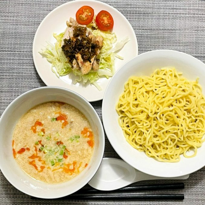 Spicy Soy Sesame Tsukemen and Negi Sauce Chicken EATwithOHASHI