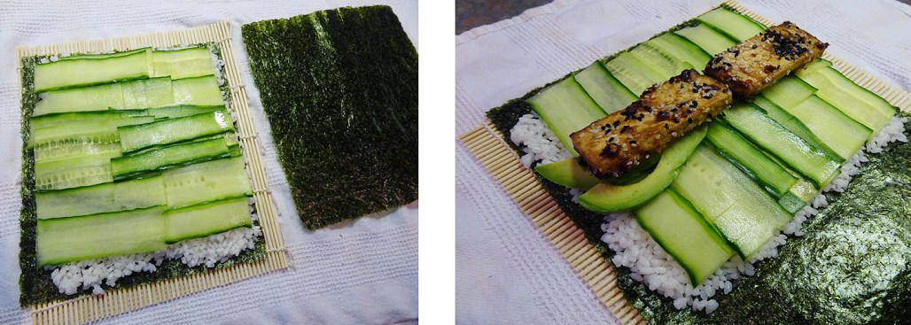 Sushi Burrito Step by Step
