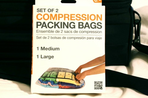 zipped bag w compression