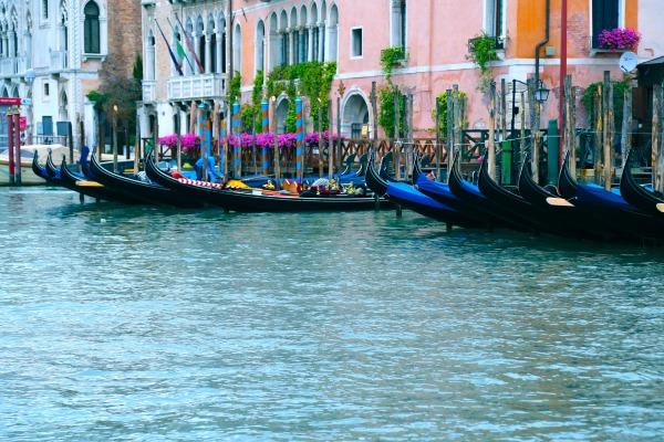 Venice Gondolas parked