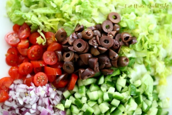 Italian Chopped Salad Ingredients 2