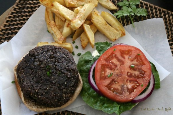 Black Bean Burger Open-faced