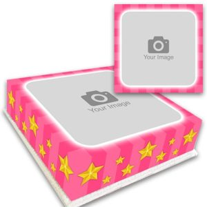 Pink Stripes and Stars Canvas Cake