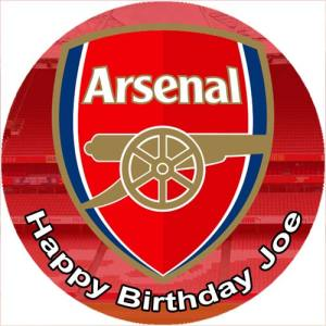 Arsenal Edible Cake Topper