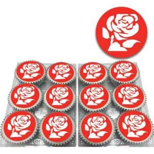 labour party logo cupcakes