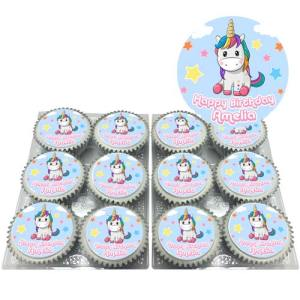 Personalised Unicorn Cupcakes