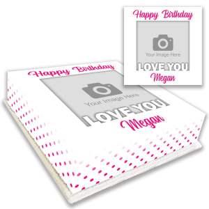 Love You Birthday Photo Cake Personalised