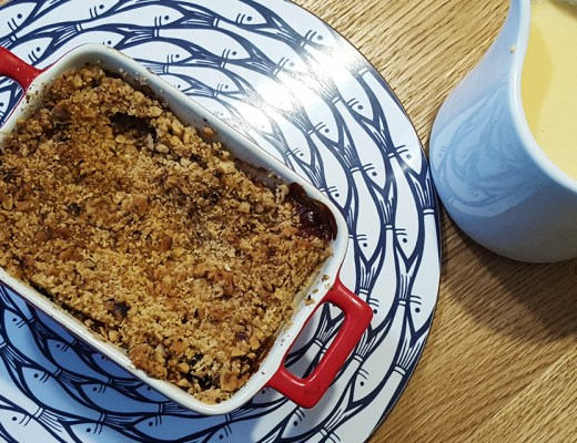 Apple crumble, with custard, a brilliant Winter pudding