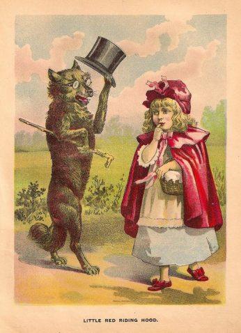 vintage Big Bad Wolf lithograph