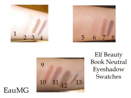 elf Beauty Book Neutral Eye eyeshadow swatches
