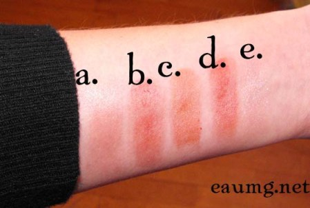 Badger Natural Lip Tint and Shimmer swatches