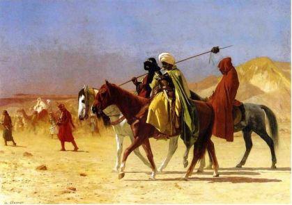 Jean-Leon Gerome Arabs Crossing the Desert
