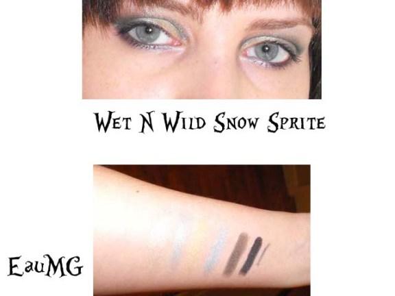 Wet N Wild Snow Sprite Swatches