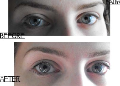 Hourglass Film Noir Mascara Review Before & After