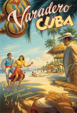 vintage 1940's Cuba poster