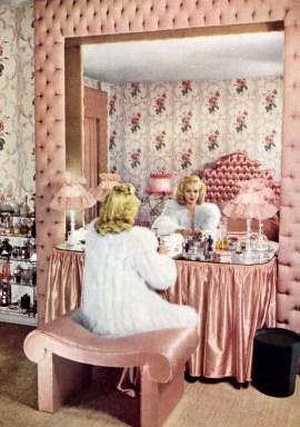 Carol Landis pink boudoir