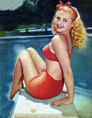 1940's Adele Mara poolside