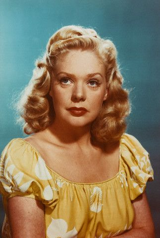 color photo of 1940's actress Alice Faye