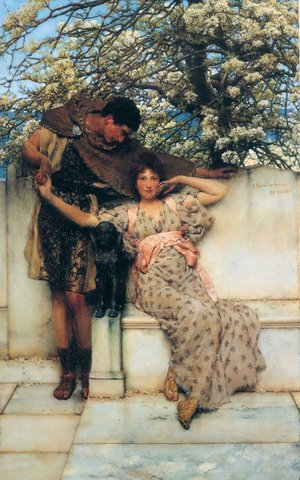 """Lawrence Alma Tadema """"Promise of Spring"""""""