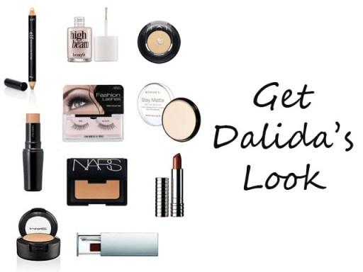 1960's makeup look of Dalida
