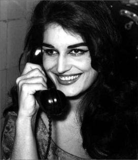 Dalida on the telephone
