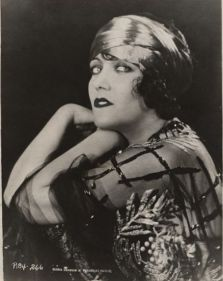 Gloria Swanson wearing a turban