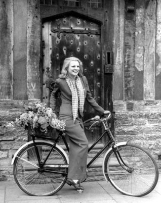 Claire Luce on bike