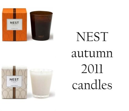 NEST autumn 2011 candles