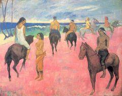Gauguin Riders on the Beach
